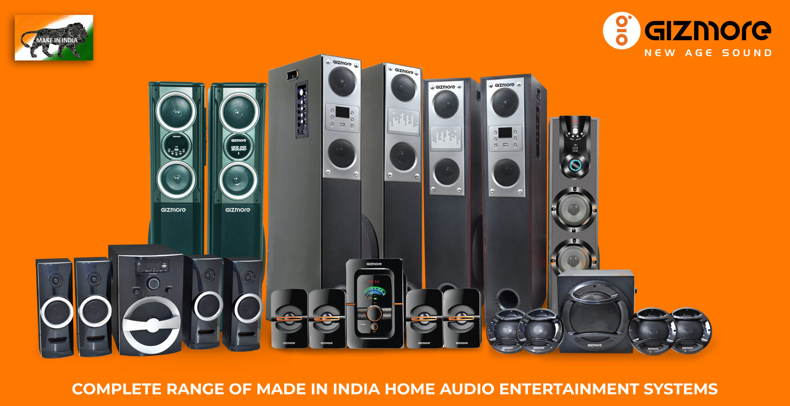 Gizmore introduces indigenous 'Made in India' home audio range