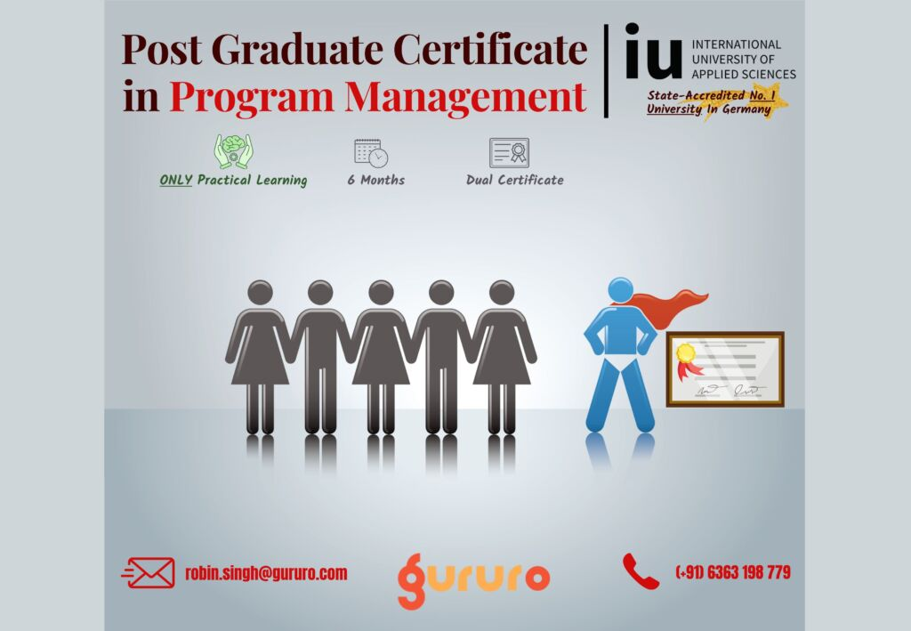 Gururo.com collaborates with IU University, Germany to Offer World-Class Post Graduate Certificate in Program Management