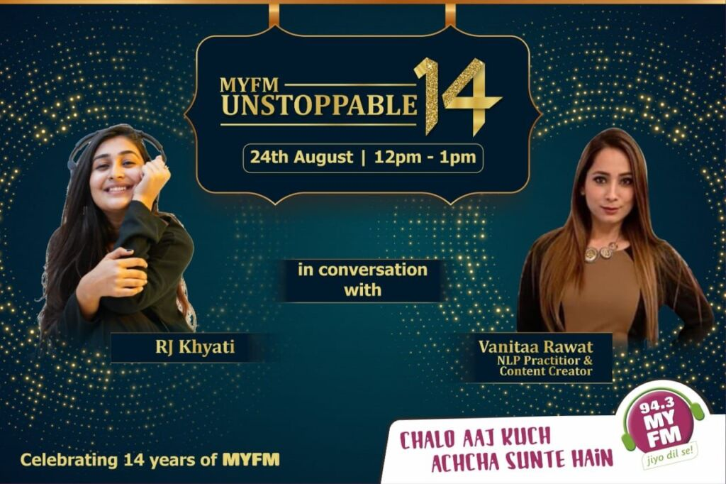 Vanitaa Rawat, A Well Known Content Creator, And Motivational Coach, Celebrates 14 Years Of MYFM At Their Studio.