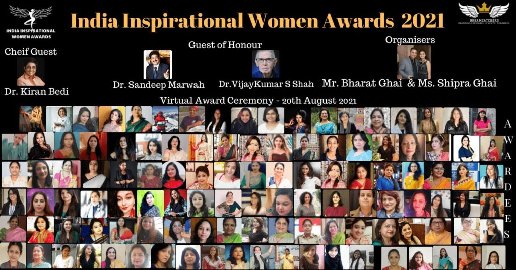 2nd Virtual Edition of India Inspirational Women Awards held on 20th August 2021