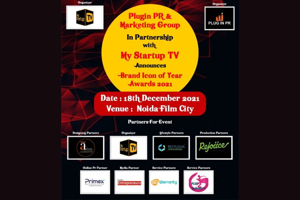 Plugin PR And Marketing Group In Partnership With My StartupTv Announces Brand Icon Of the Year 2021 (Season3)